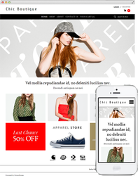 Theme 'chic boutique' on Desktop and Mobile Screens
